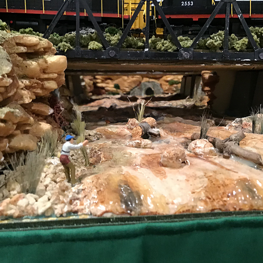 model railroad stream