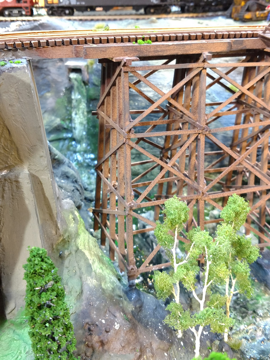 model railroad waterfall