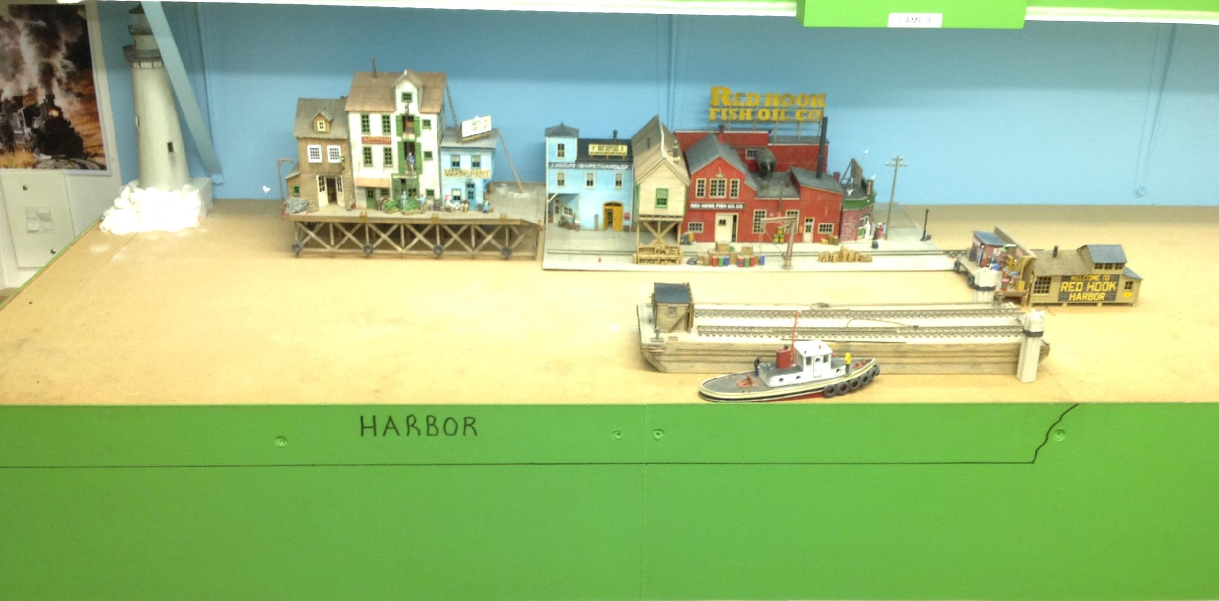 model rairoad wharf