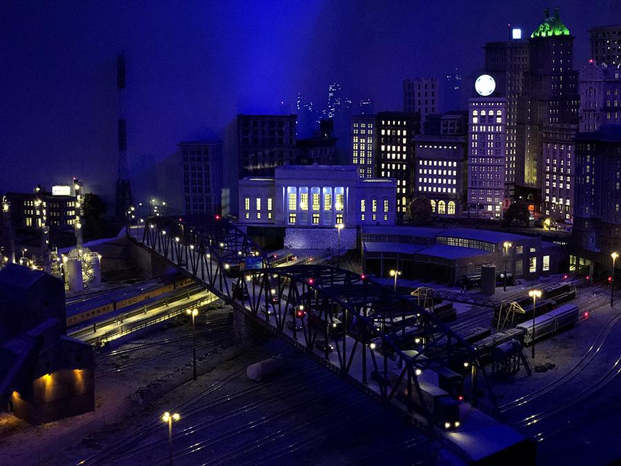 N scale panoramic shot