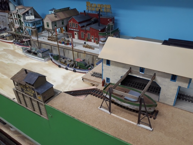 model railroad boat yard