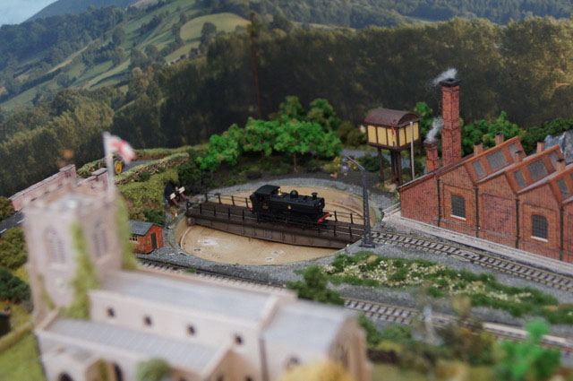 model railway turntable