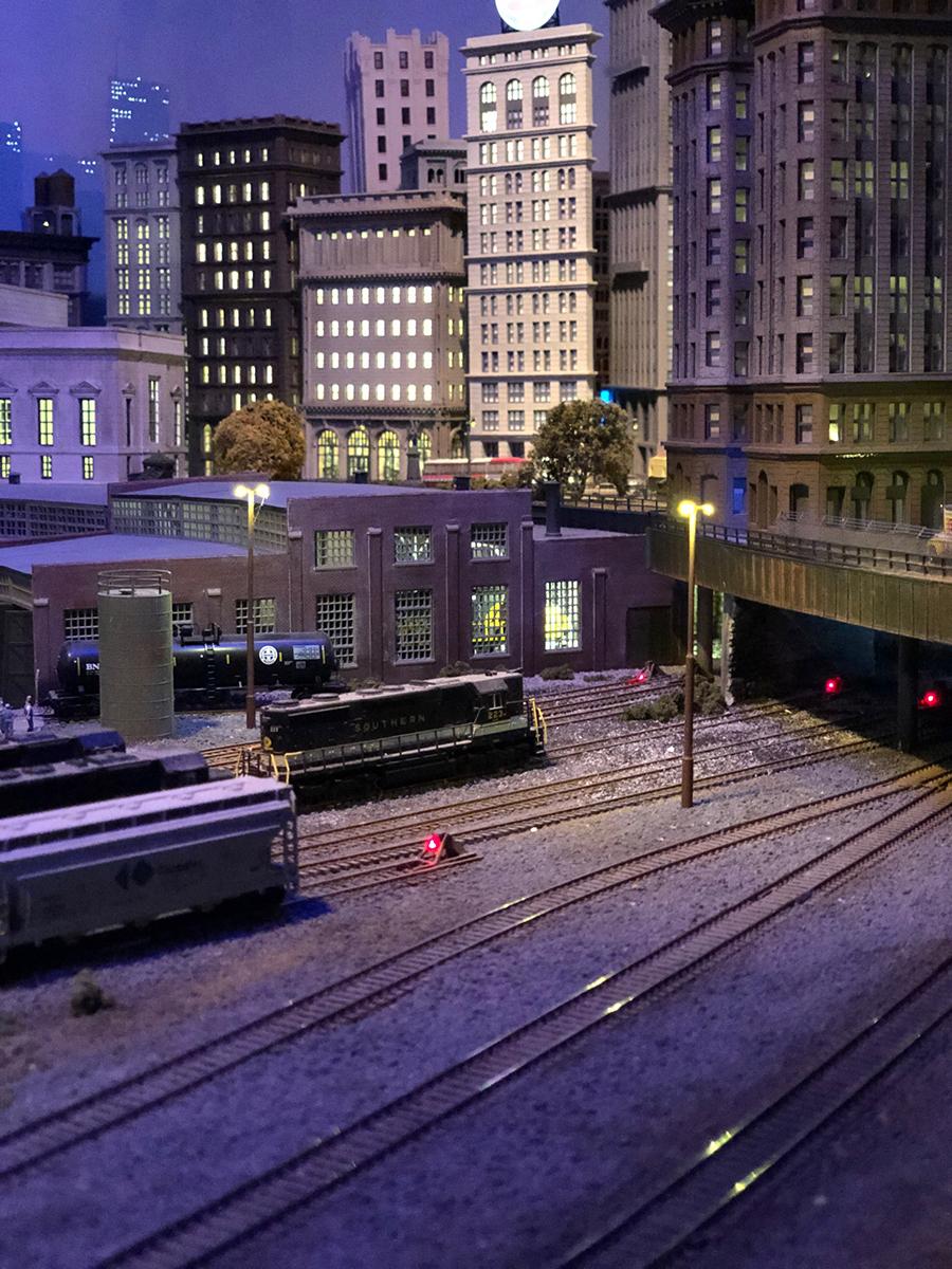 N scale rail yard