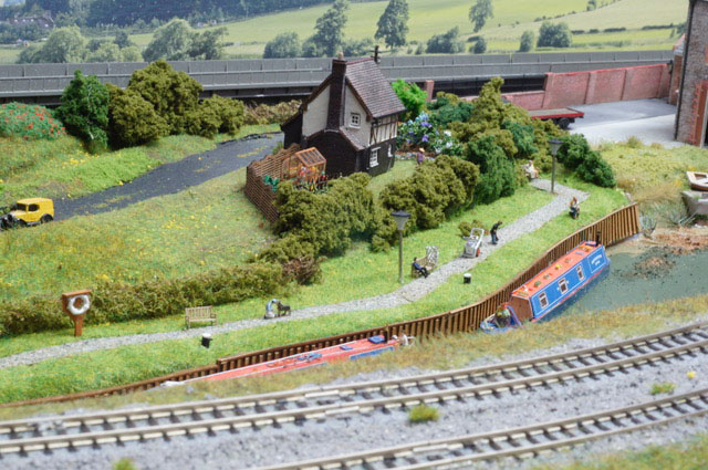 model railway canal