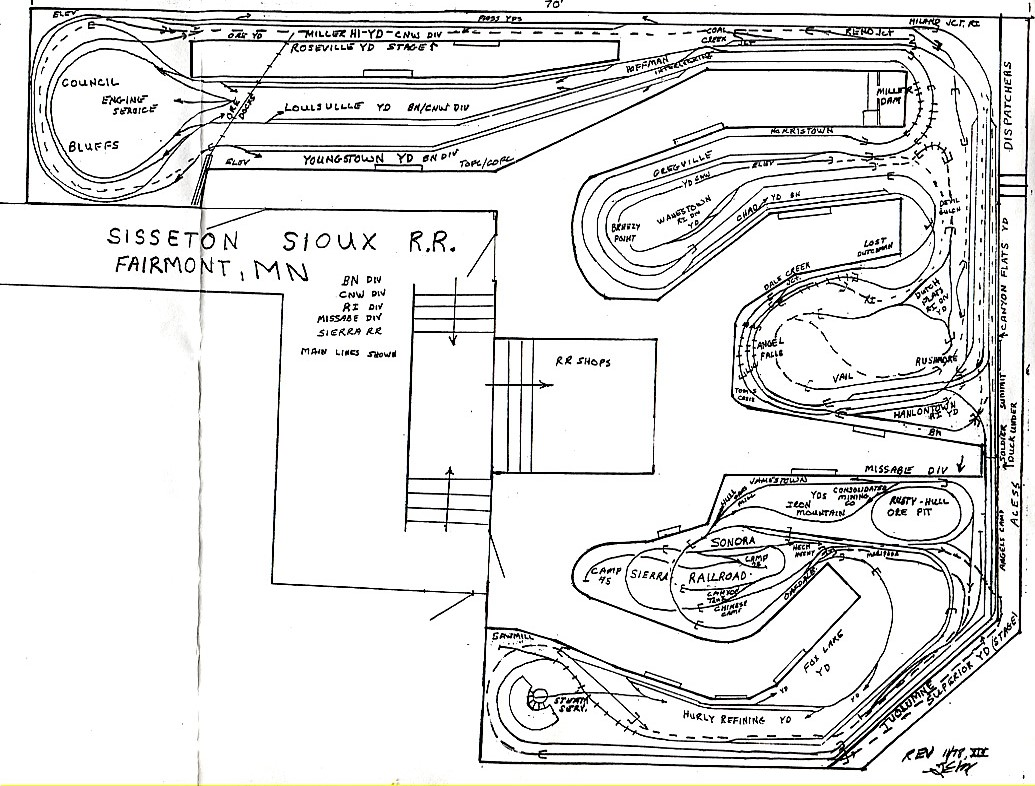 jim u0026 39 s 4x6 train layout