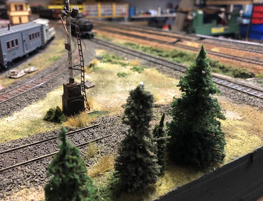 model railroad end of line