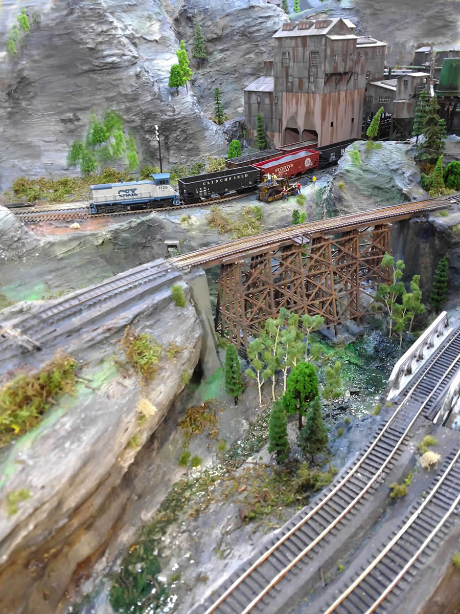 model railroad wooden bridge