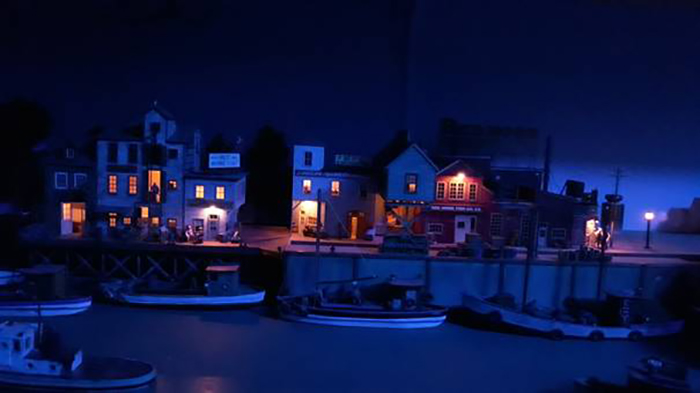 model railway harbour