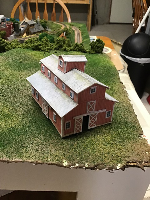 N scale wooden barn
