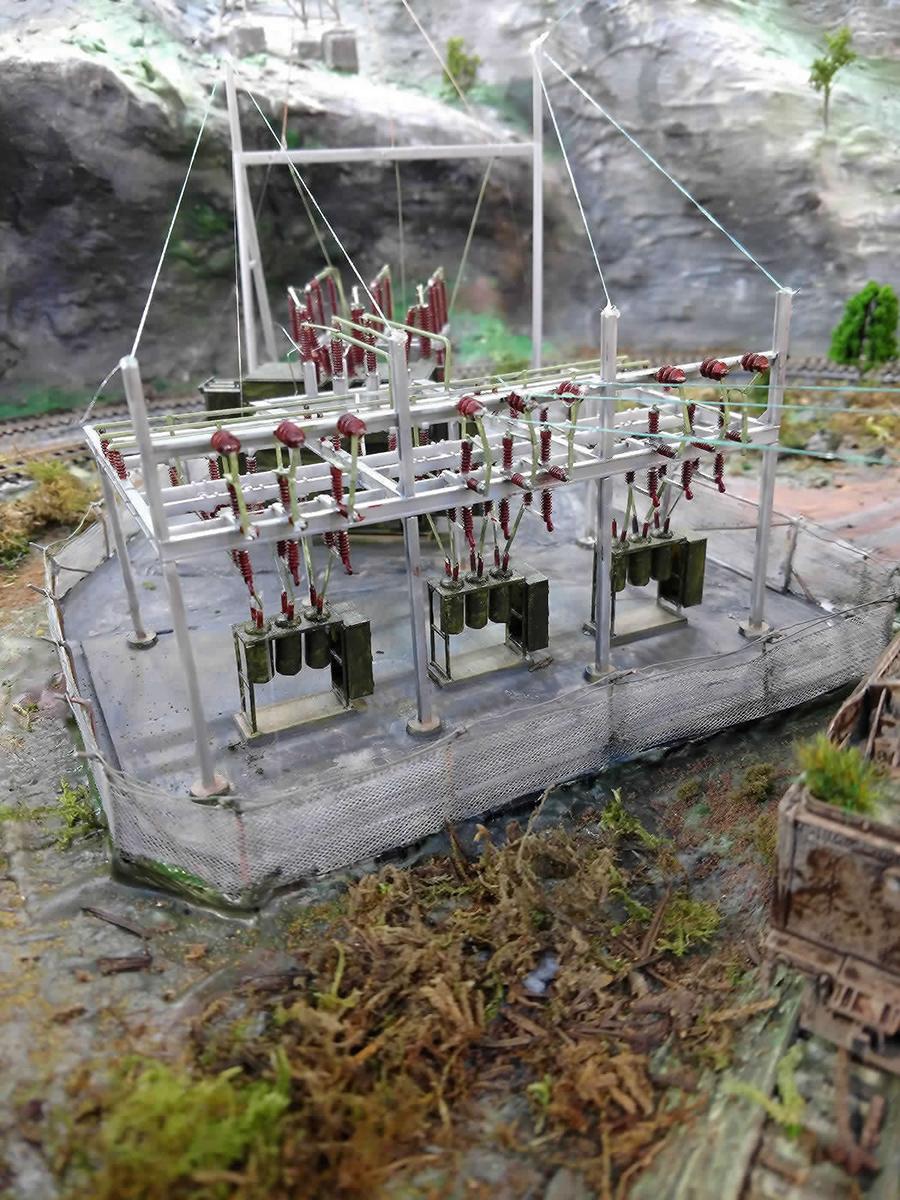 model railroad substation