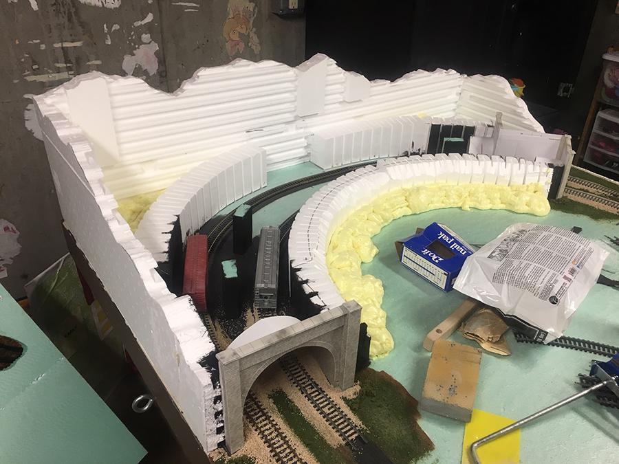 HO model railroad tunnel