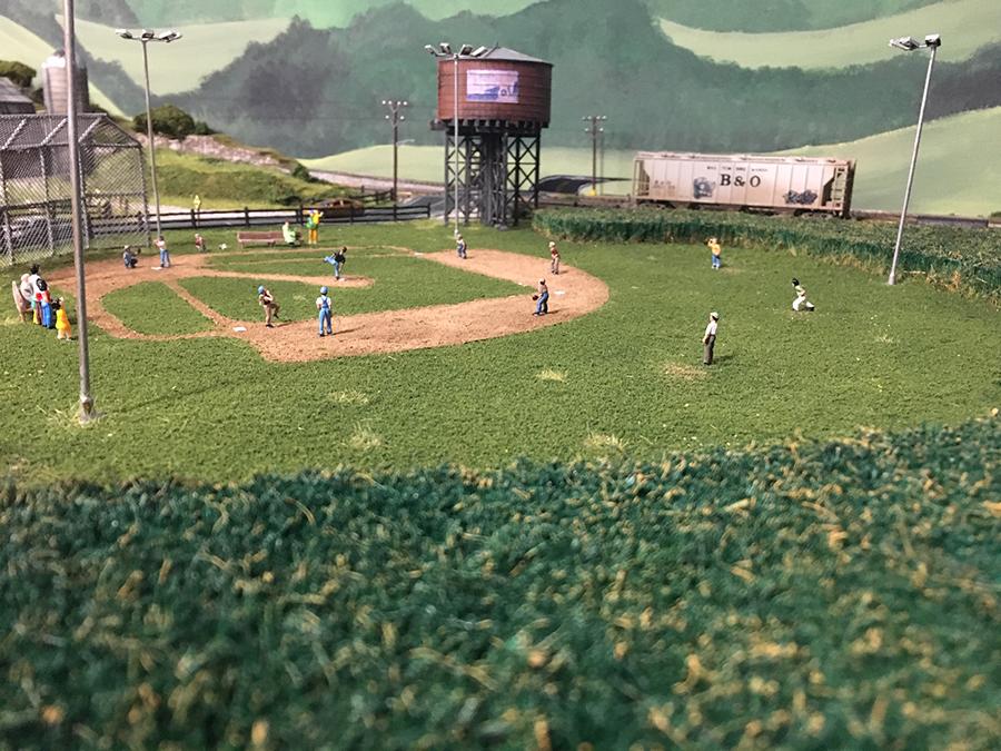 HO baseball field