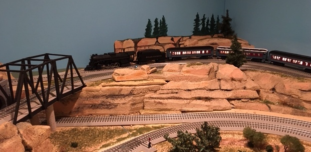 lionel model railroad rockface