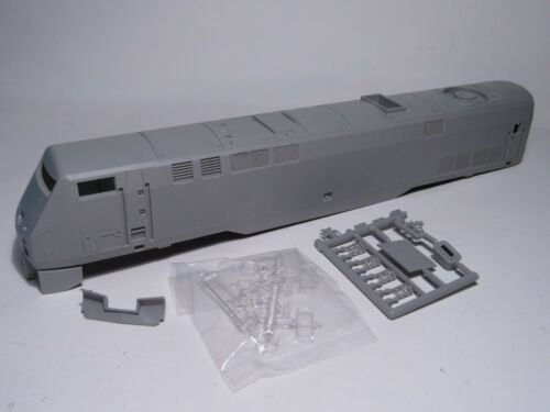 unpainted model loco