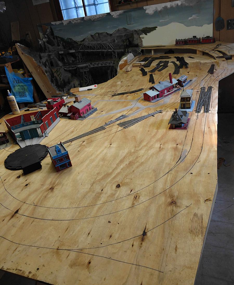 model train town module