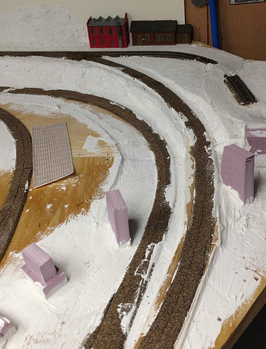 model train town modules