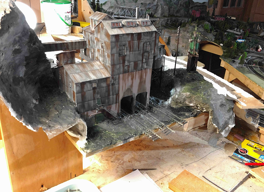 model railroad mine