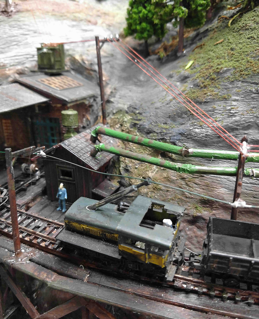 model railroad coal mine