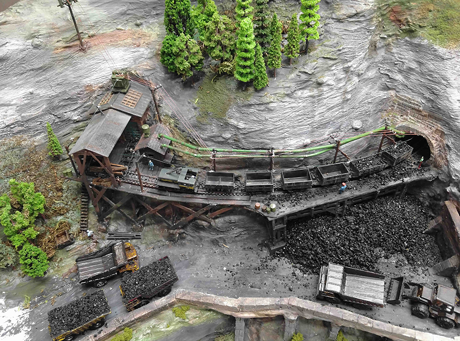 model train coal mine