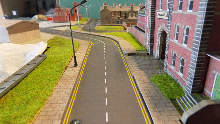 model railway road
