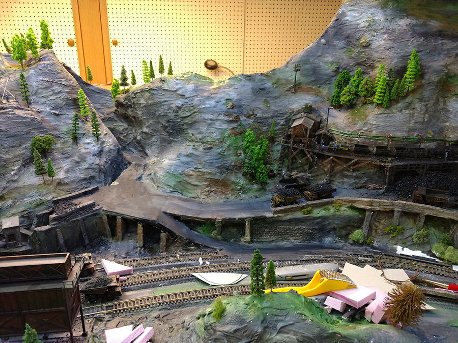 model railroad mountain