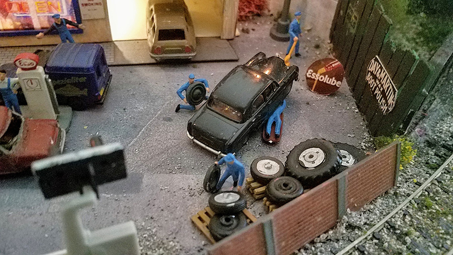model railroad garage