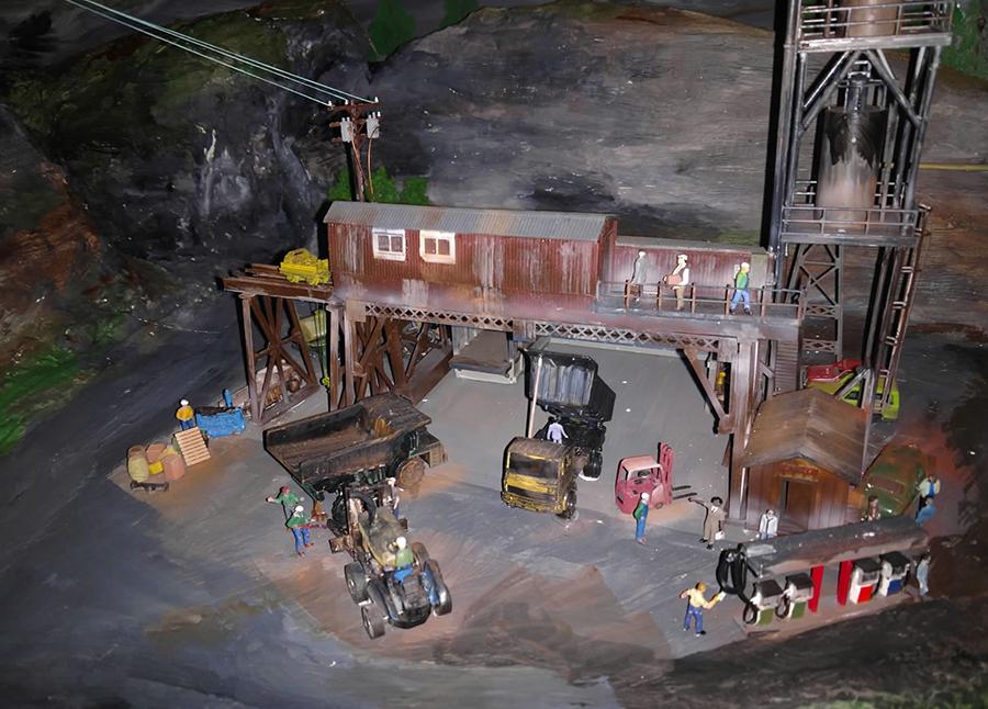 mine model railroad