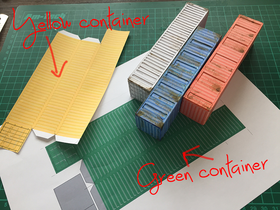 shipping container model railroadd