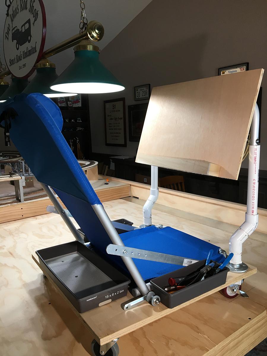 model railway access chair