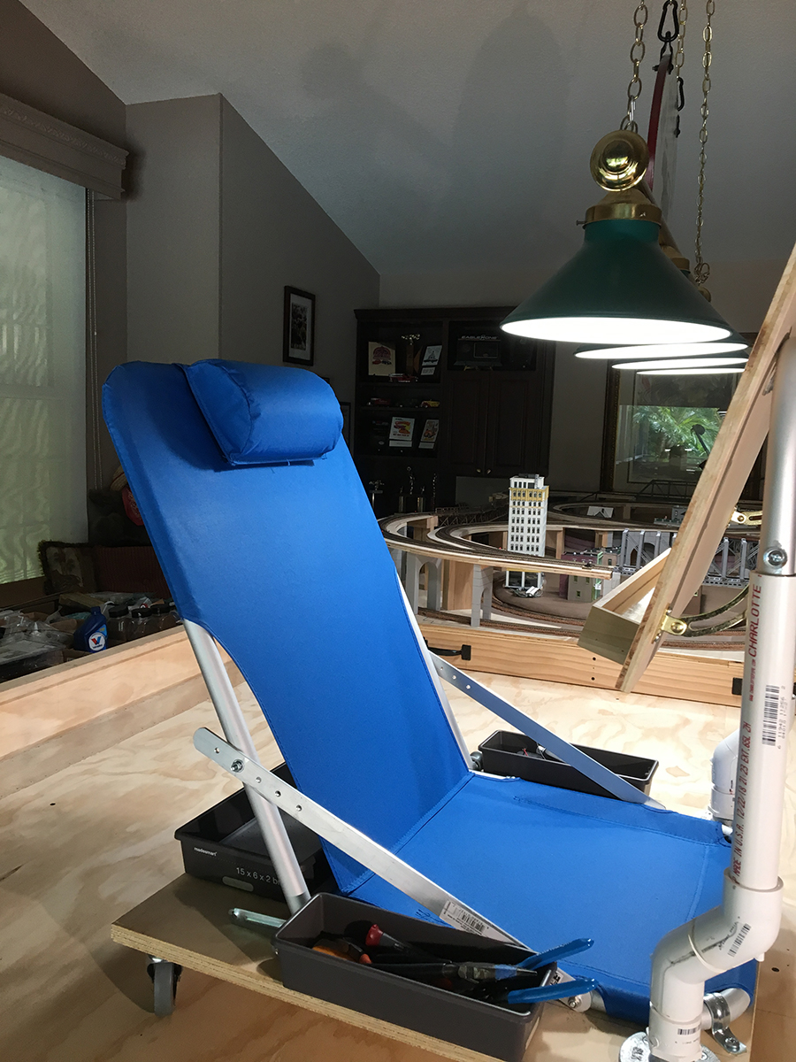model railroad slider chair