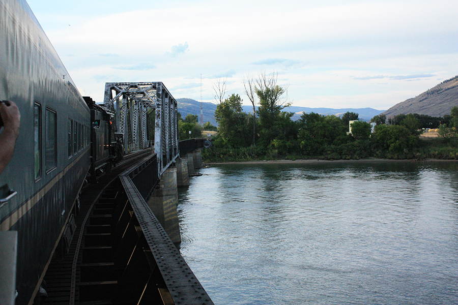 steam train bridge