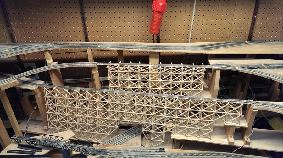 N scale trestle bridge