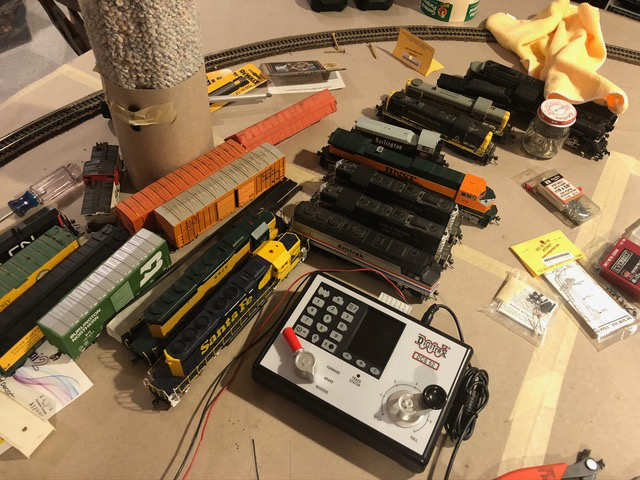 start of model railway