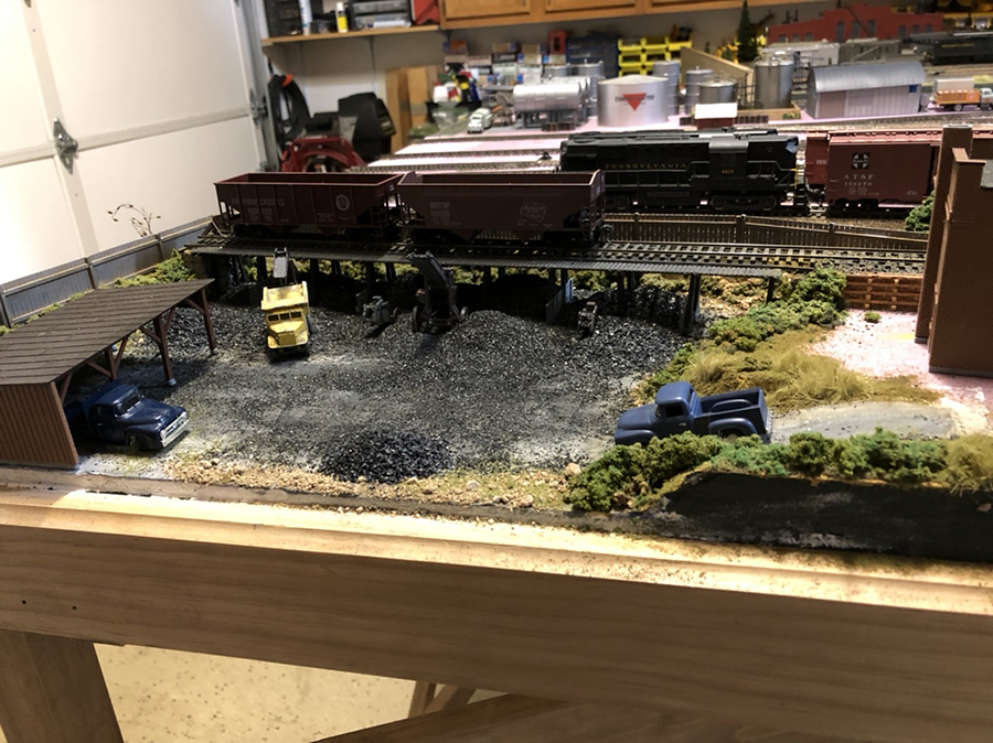 switching model railroad layout