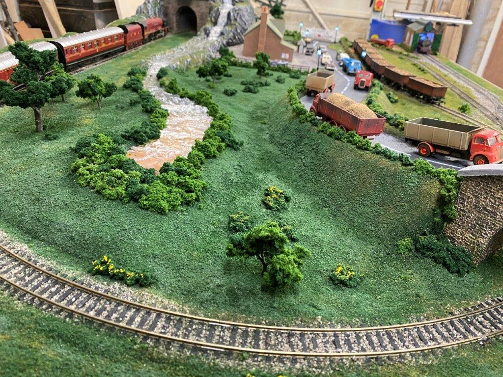 5ft x 3ft model railroad