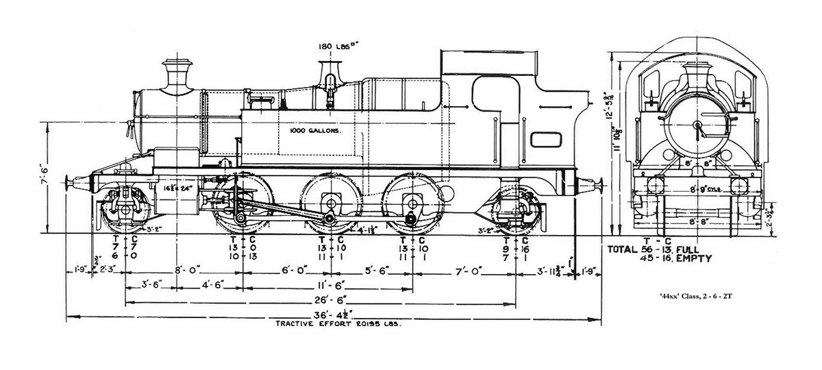 GWR loco drawing