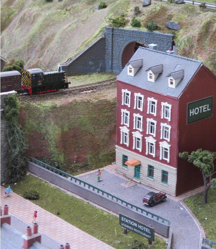 model railway station hotel