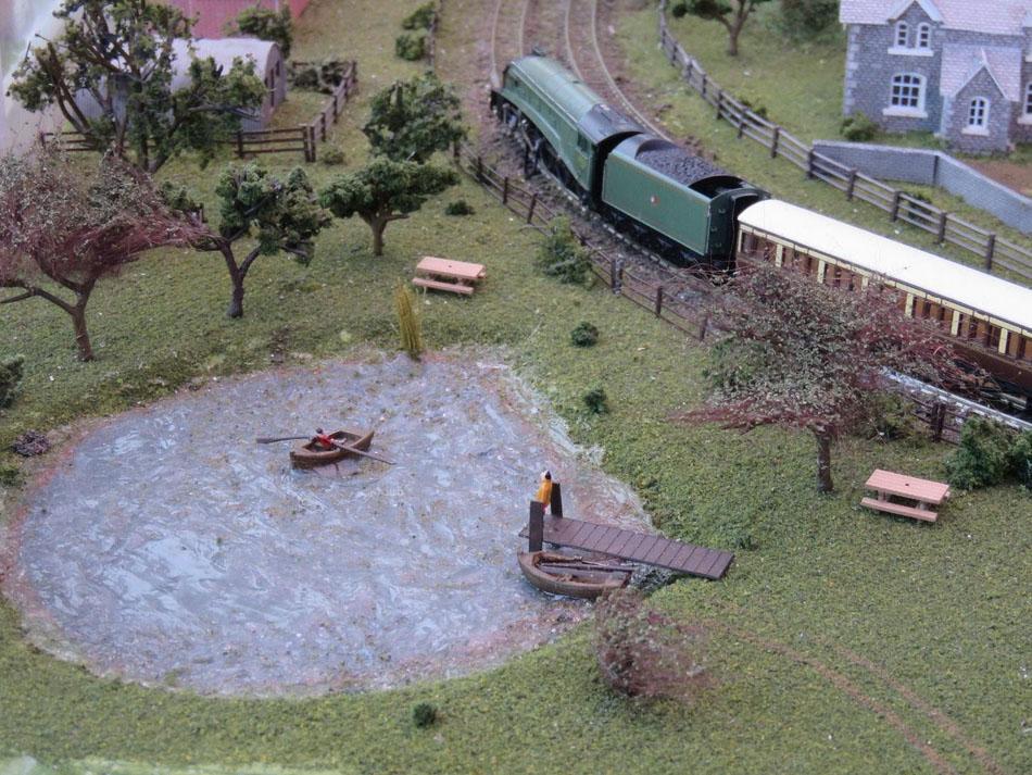 model railway pond