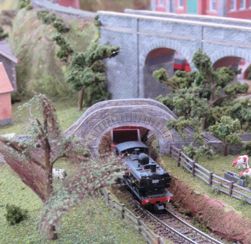 model railway goods train