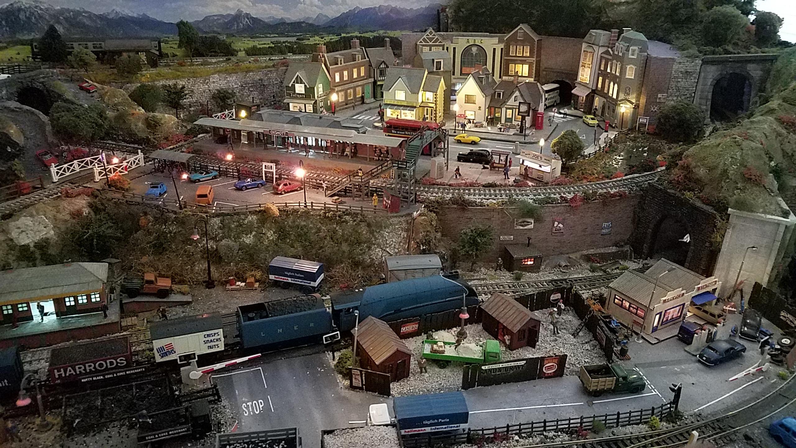 model railway high street