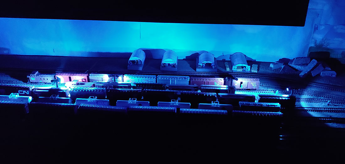 N scale led lights night scene