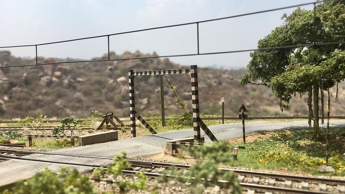model railroad signs