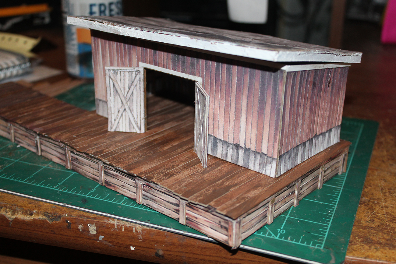 HO scale freight shed scratch build