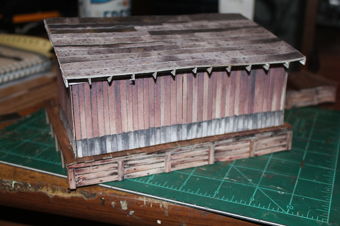 scratch built freight shed