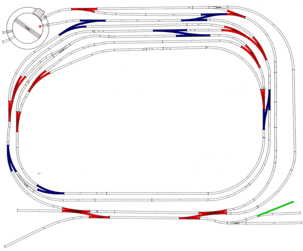 track plan for uncoupling system