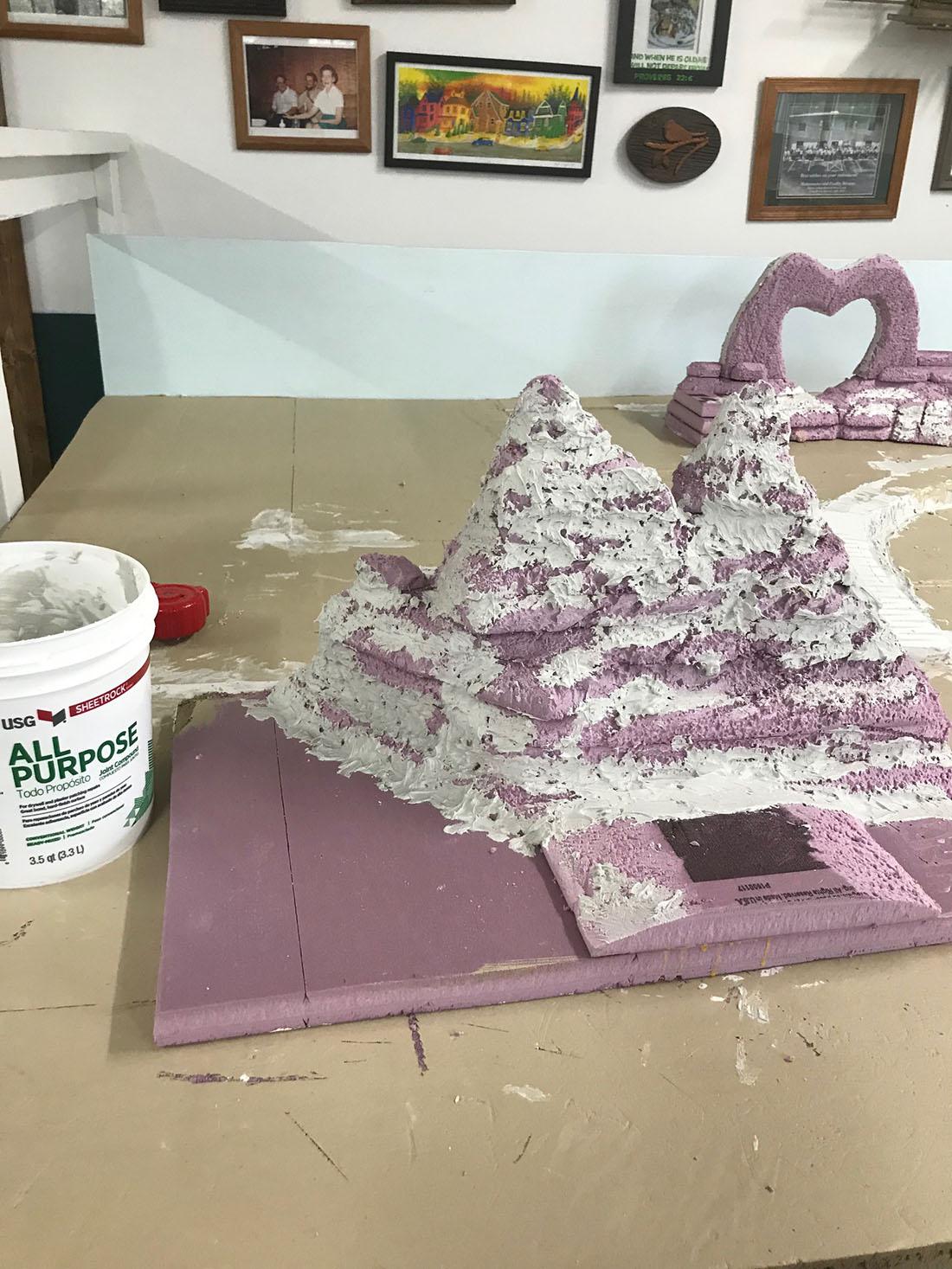 HO scale model rain