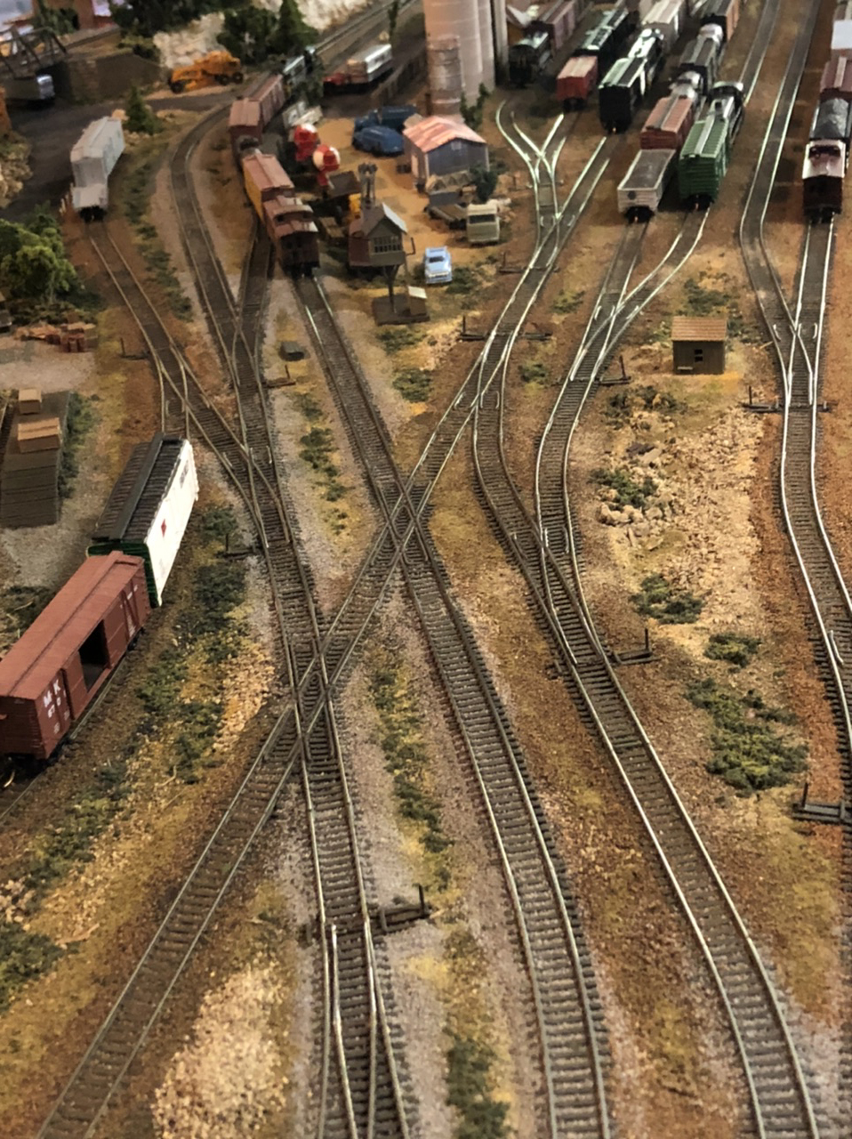N scale train yard
