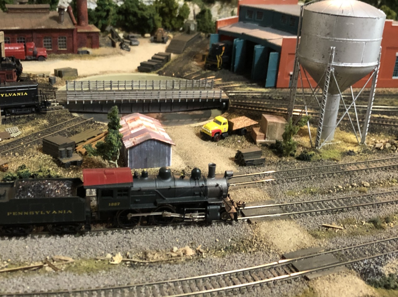 N scale workd yard