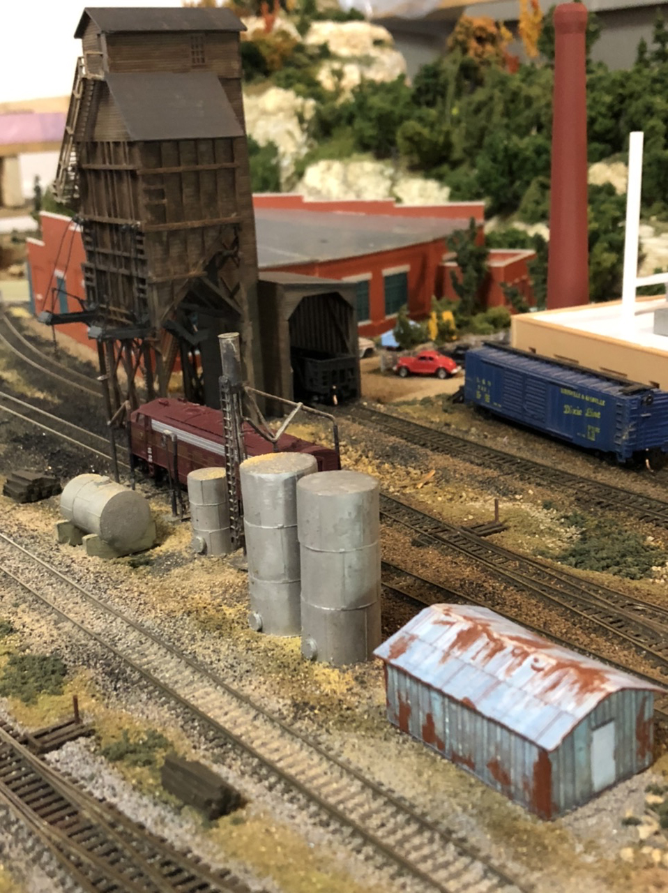 N scale coal yard