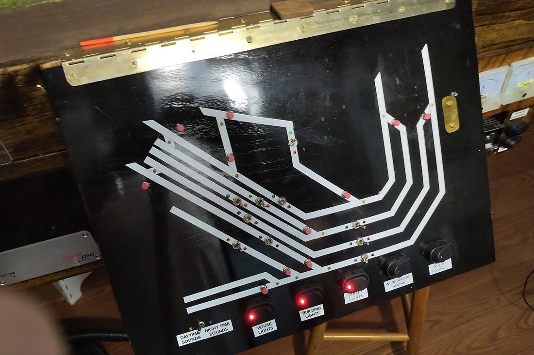 model railroad control panel
